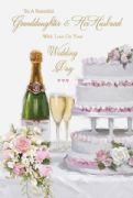 Granddaughter & Husband Wedding Day Card